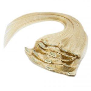 włosy naturalne doczepiane clip-on duży zestaw