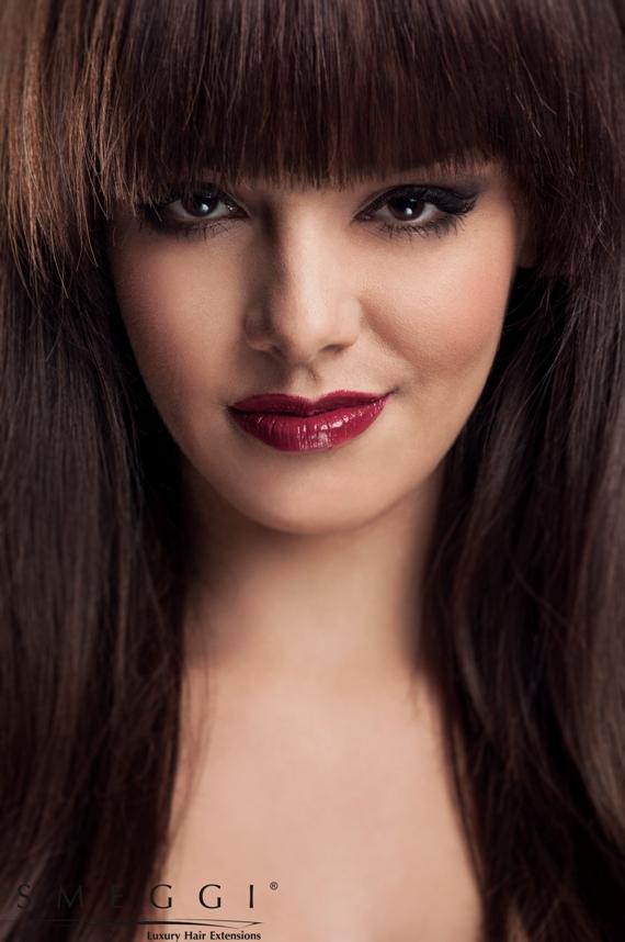przedłużanie włosów grzywka Anita
